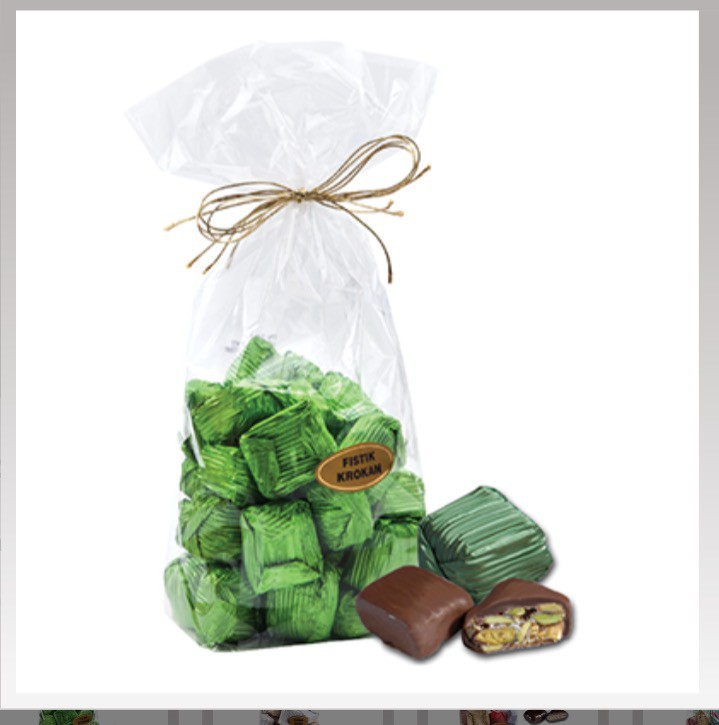 Yaldızlı fıstık krokan paket - Elan Pastanesi
