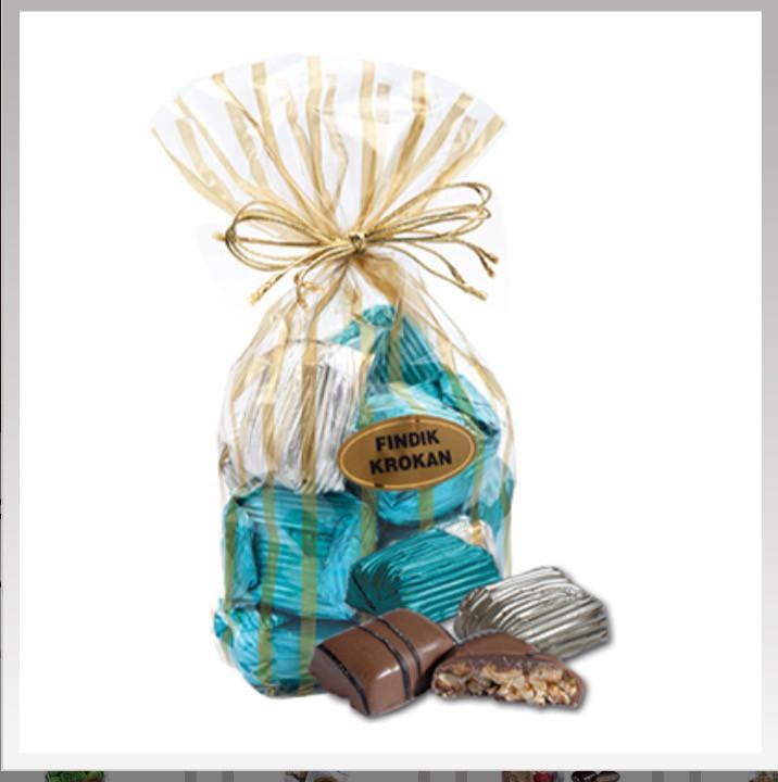 Yaldızlı fındık karamel paket - Elan Pastanesi
