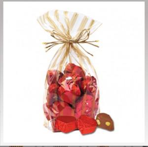 Yaldızlı krokan kırmızı paketa